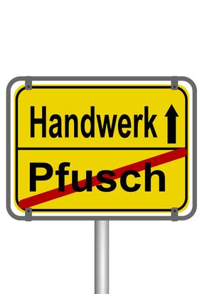 Schluss mit Pfusch, besonder bei der Ausbildung! © matthias21 - Fotolia.com