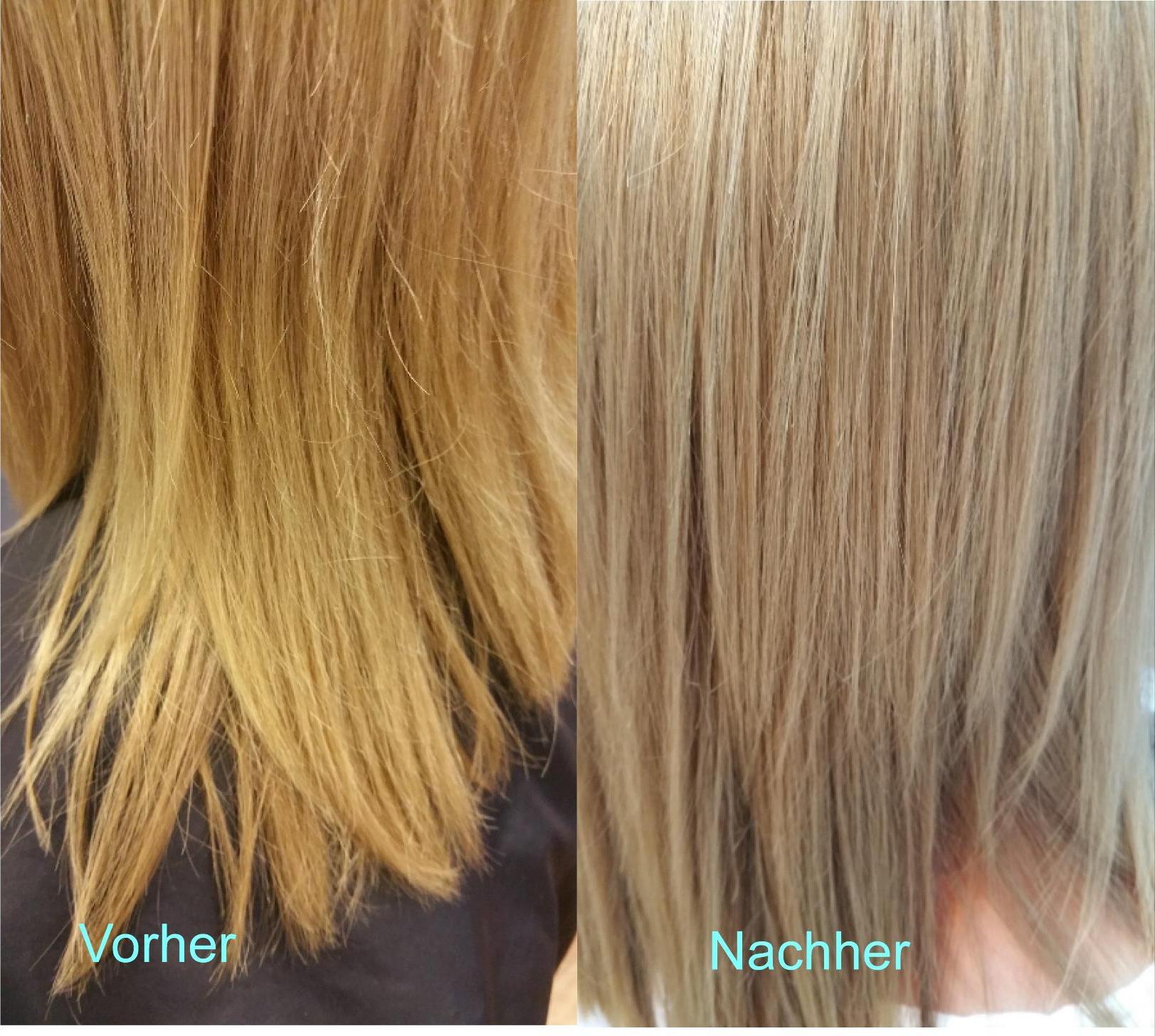 Die Gro 223 E Zauberrei Blond Gelbstich Nach Blondieren